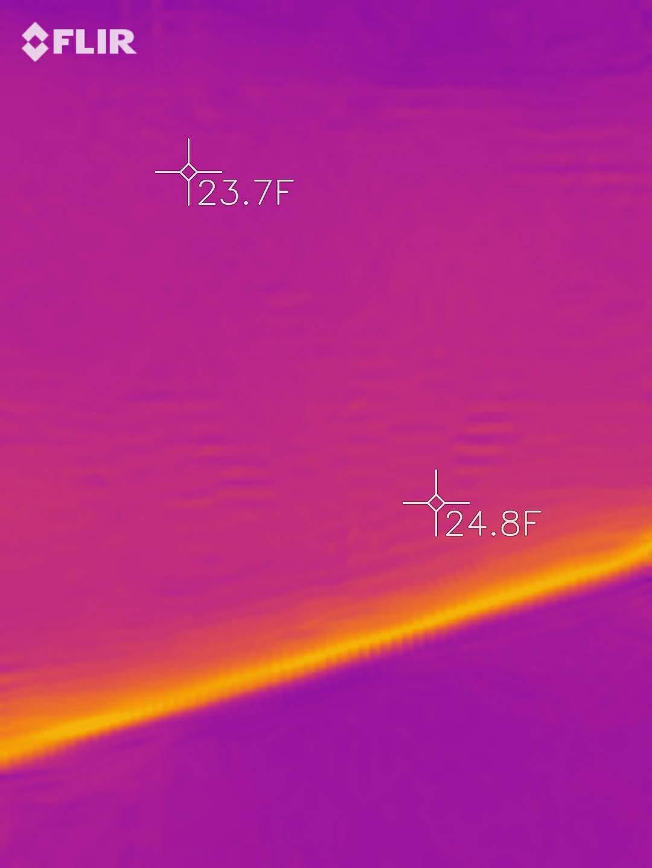 Foundation wall thermal bridging thermal image