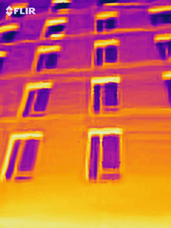 lintel thermal bridging thermal image