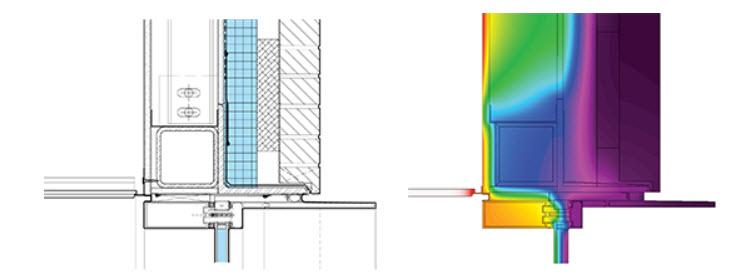 window frame and lintel thermal bridging