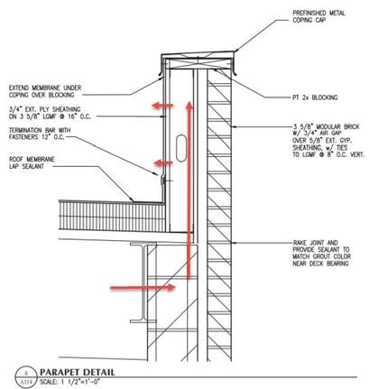 parapet thermal bridging